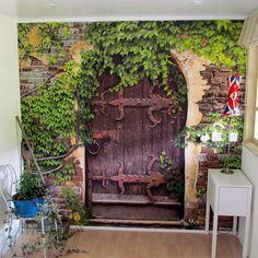 self adhesive 'secret garden' wallpaper mural by oakdene designs | notonthehighstreet.com