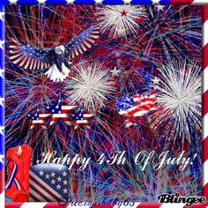 Happy of July by Fourth Of July Pics, 4th Of July Images, 4th Of July Fireworks, 4th Of July Wallpaper, Holiday Wallpaper, Patriotic Pictures, Eagle Pictures, July 4th 1776, America Pride