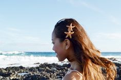 Double Starfish Mermaid Barrette by HeavenlySea on Etsy