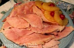 Old Fashioned Pineapple Glazed Baked Ham. A traditional baked ham ...
