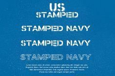 Stamped Navy Font from FontBundles.net