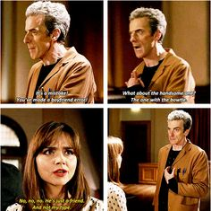 AHHHH his face. He saw clara as his girl friend once and now shes saying hes not her type :( :( :(