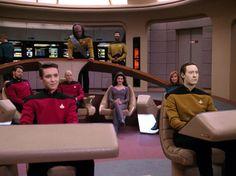 Michael Dorn, Jonathan Frakes, Patrick Stewart, and Tony Todd in Star Trek: The Next Generation Star Trek Bridge, Bernie Memes, Jonathan Frakes, Marina Sirtis, Wil Wheaton, Starship Enterprise, Red Team, Star Trek Ships, The Next