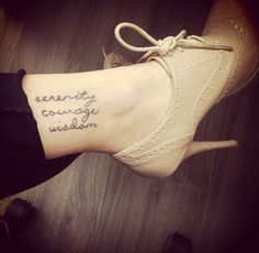 Serenity Prayer: Serenity/Courage/Wisdom