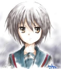 the melancholy of haruhi suzumiya, yuki nagato Mikuru Asahina, Haruhi Suzumiya, Melancholy, Drawing Tips, Book Worms, Anime, Animation, Fan Art, Manga