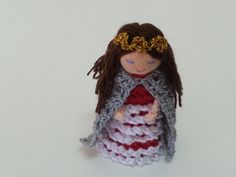 Princess Finger Puppet  Crochet by AubreyMade on Etsy,