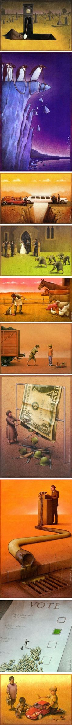 Clever Political Illustrations by Paul Kuczynski