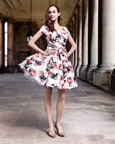 Printed full skirt dress - BEQUII by Ted Baker I WANT!