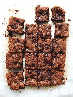 My New Roots: Chocolate Chunk Nut Butter Blondies