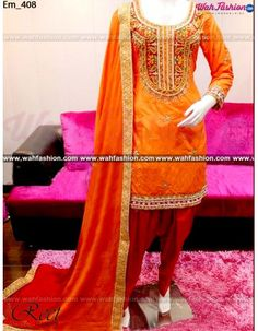 Give yourself a stylish & designer look with this Marvellous Orange And Maroon Embroidered Punjabi Suit. Embellished with Embroidery work and lace work. Available with matching bottom & Net dupatta. It will make you noticable in special gathering. You can design this suit in any color combination or on any fabric. Just whatsapp us for more details.  For more details whatsapp us: +919915178418