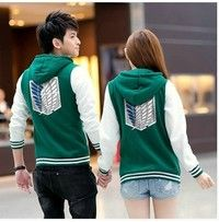 I think you'll like Shingeki No Kyojin Attack On Titan Jacket Scratched Velvet Fashion Casual Hoodies Sweatshirt Cosplay Anime Costume For Couples. Add it to your wishlist!  http://www.wish.com/c/548e20b59333921020a5cc07