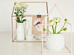 Een mooie plantenkas is helemaal hip als decoratie in je huis! Maak er met deze tutorial gemakkelijk eentje zelf.