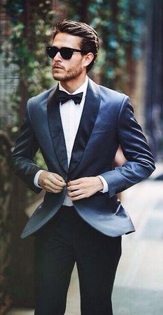 Blue Shawl Lapel Groom tuxedos Men Wedding Suits Prom/Formal/Bridegroom Suits/best man /business suits/Fashion Cloth For Men Wedding Tux, Wedding Attire, Groom Attire, Groom And Groomsmen, Groom Suit Trends, Groom Suits, Groom Style, Suit And Tie, Gentleman Style