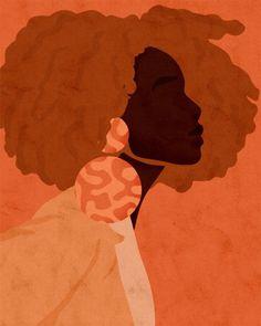 Art And Illustration, Illustrations, Painting Inspiration, Art Inspo, Kunst Inspo, Black Girl Art, Black Artwork, Afro Art, Female Art