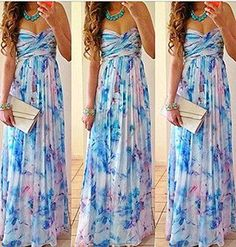 Summer Floral Vestidos Chiffon Printed Beach Dress for Women Newest Fashion Womans Long dresses Sexy party dresses