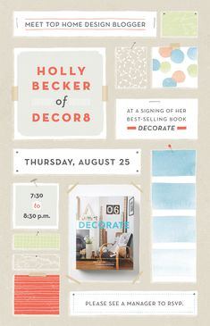 Various print invitations and signage created while at Anthropologie. Art director : Carolyn Keer / Becky Berkheimer