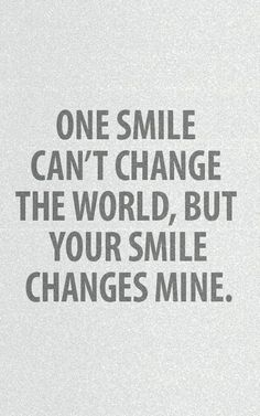 Your smile changes mine. Tap to see more romantic love valentine couple quotes. - @mobile9 Picture Message