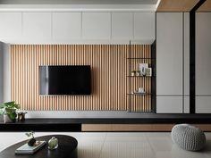 Living Room Tv Area Design, Living Room Wall Units, Living Room Tv Unit Designs, Living Room Bench, Home Living Room, Tv Feature Wall, Feature Wall Design, Wall Decor Design, Modern Contemporary Living Room