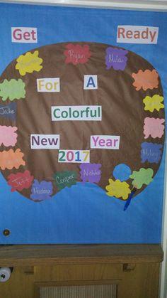 New year classroom door