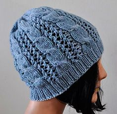 Ravelry: Allegro DK Cables 'n Lace Hat pattern by Cathy Campbell