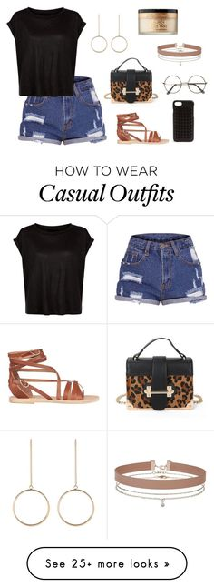 """""""casual girl"""" by lena-topouzi on Polyvore featuring Ancient Greek Sandals, Christian Louboutin, Miss Selfridge and Too Faced Cosmetics"""