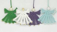 Weihnachtsschmuck Noel Ornamente Weihnachtsengel von JewelnKnit