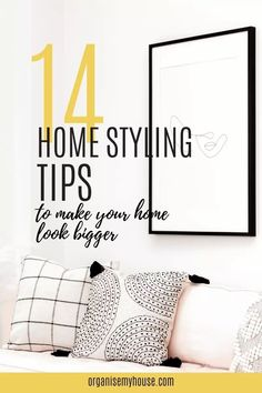 Tips and tricks to make any space feel larger than it is. Home styling made simple! Follow these ideas and create more space in your home. Home Look, Painting Tips, Homemaking, Home Organization, Declutter, Decorating Tips, Make It Simple, Larger, Design Inspiration