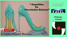 Pintura decorativa, decorative painting,  zapatillas para decorar con Mi...