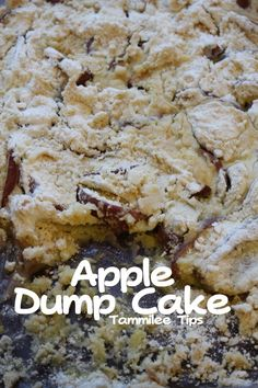 Apple Dump Cake!  3 ingredients and it tastes amazing!
