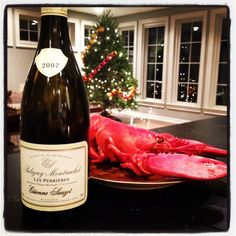 Puligny-Montrachet with our feast of the seven fishes.