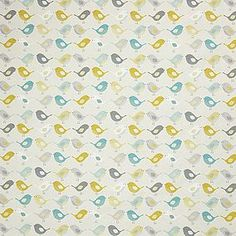 Patterned with a contemporary bird print with warm ochre highlights this fabric is made with cotton, sold by the metre. Scandinavian Blinds, Drapes And Blinds, Fabric Birds, Bird Design, Bird Prints, Soft Furnishings, Dressmaking, Cleaning Wipes, How To Apply