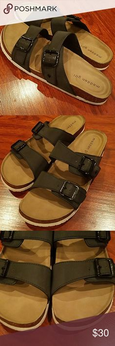 Madden Girl Brando sandals barely used size 8 Can't find size but I'm an 8 so pretty sure an 8 Madden Girl Shoes Sandals