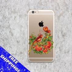 Floral iPhone 7 case Flowers Samsung S7 Edge case Bird iPhone 7 Plus case Transparent Samsung Note 5 case Art iPhone 6S case TPU Samsung S6