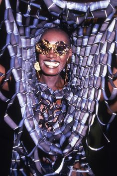 Actress and singer Grace Jones smiles while partying at Studio 54 in New York, Get premium, high resolution news photos at Getty Images Disco Fashion, Moda Fashion, Fashion Week, Girl Fashion, Jones Fashion, Studio 54 Fashion, Queer Fashion, 70s Fashion, Fashion Beauty