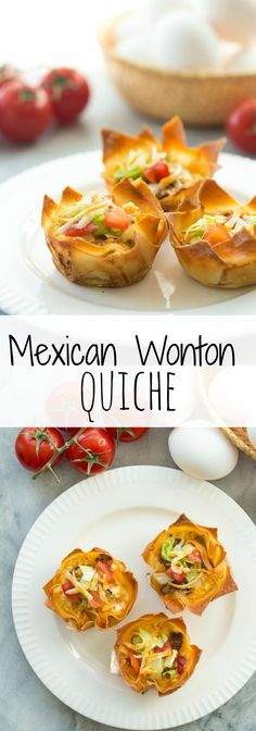 These Mini Mexican Wonton Quiche are simple to make and perfect for breakfast, brunch, or as appetizers! Most of the prep can be done ahead so you can relax and enjoy your holiday :)