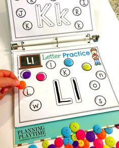 Alphabet Activities for Preschool and Kindergarten - Fun Interactive Binder #planningplaytime #alphabetprintables #alphabetworksheets #interactivebinder #preschoolworksheets #kindergartenworksheets