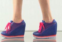 scarpe da ginnastica con zeppa