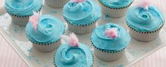 cotton candy cupcakes