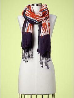 Fun printed scarft - GAP