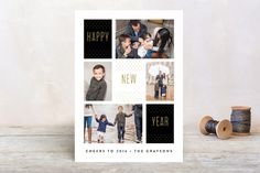 Delicate Dots New Year Photo Cards
