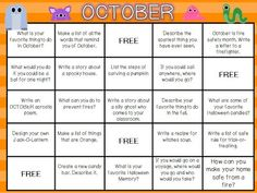 October Writing FREEBIE with a little of this and that:)