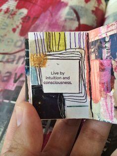 mini mixed media journal - bybun / Roxanne Coble