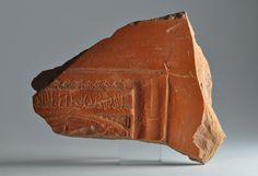 African red slip ware sherd with inscription 7