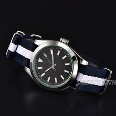 40mm Parnis Automatic Movement Men Watch Stainless Steel Case Sapphire Crystal