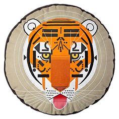 Charley Harper for Land of Nod Tiger Throw Pillow Kids Pillows, Throw Pillows, Art Optical, Land Of Nod, Charley Harper, Bedroom Murals, Family Room Design, Baby Store, Boy Room