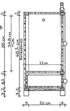 Bauplan Puppenschrank für ein Puppenhaus.