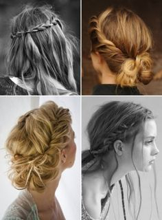 "I'm loving these messy braids!! A great way to say, ""It doesn't take an hour everyday to make me look beautiful"""