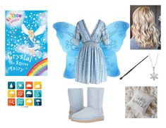 """""""Crystal the Snow Fairy"""" by ocean-goddess ❤ liked on Polyvore featuring Cutie Collection, Chicwish, UGG and Primrose"""