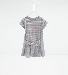 Image 1 of Knotted striped dress from Zara