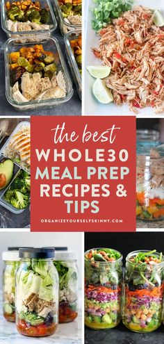 The Best Whole30 Meal Prep Recipes and Tips   Healthy Meal Prep Tips - Looking for ways to incorporate healthy Whole30 recipes into your meal prep? These Whole30 meal prep tips, ideas, and recipes will help you get started and succeed on Whole30. You'll wake up every morning knowing what's for breakfast, lunch, or dinner! Organize Yourself Skinny   Healthy Lifestyle Tips   Weight Loss Recipes   How To Lose Weight   Meal Planning #mealprep #mealplanning #whole30 #healthyrecipes Clean Dinner Recipes, Best Healthy Dinner Recipes, Quick Healthy Lunch, Healthy Freezer Meals, Healthy Eating Tips, Healthy Meal Prep, Easy Healthy Dinners, Lunch Recipes, Healthy Food